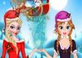 Elsa a Anna pomáhá Santovi